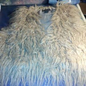Steve Madden Shaggy Tan Faux Fur Vest.